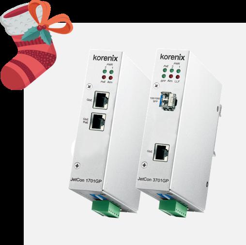 Korenix 90W PoE++ Media Converter Series