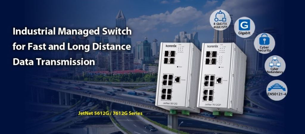 Industrial Managed switch for Fast and Long Distance Data Transmission