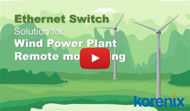 Korenix Wind Power Plant Remote Monitoring Application