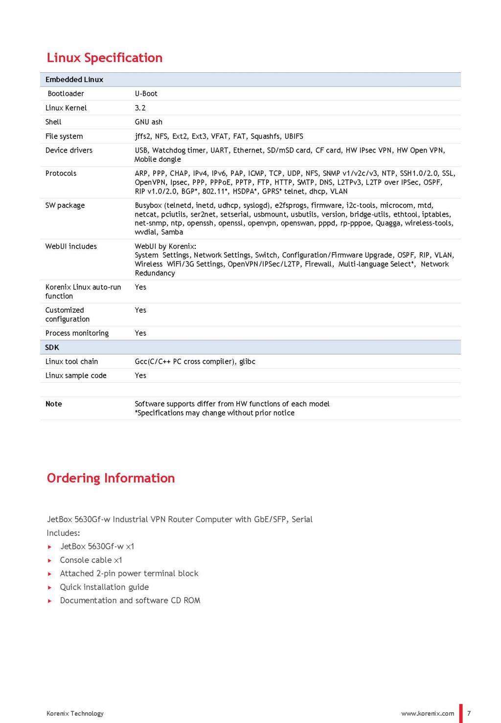 Korenix JetNet 5810G Industrial 8FE + 2G Combo DC Booster Switch