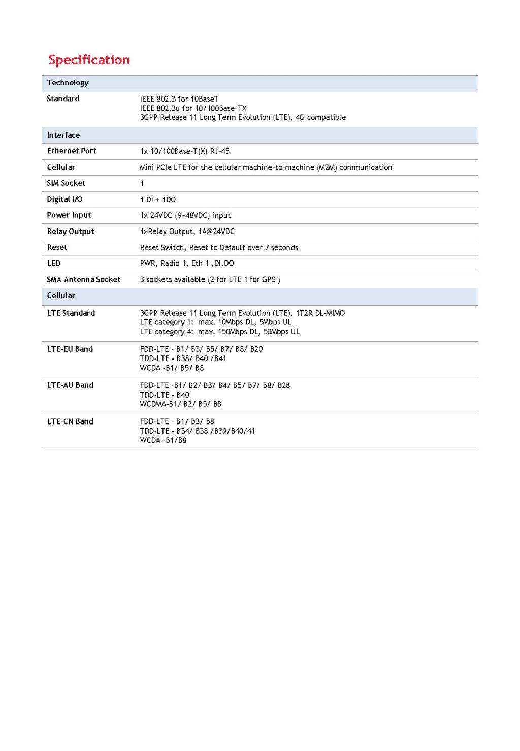 Korenix JetWave 2411L/2111L Industrial Cellular Router/Gateway