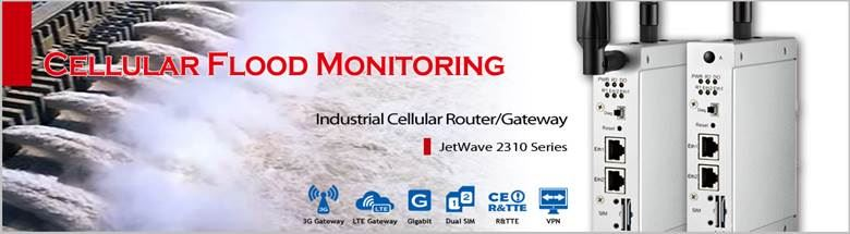 Korenix has successfully provided a wireless solution to a flood monitoring case with its JetWave 2310 series Industrial Cellular Router/Gateway.