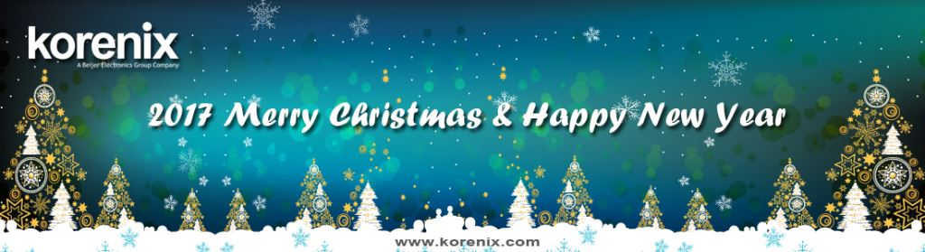 Merry Christmas & Happy New Year from all of us at Korenix Technology.