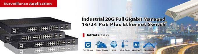 Korenix Launches JetNet 6728G to Secure IP Surveillance Market