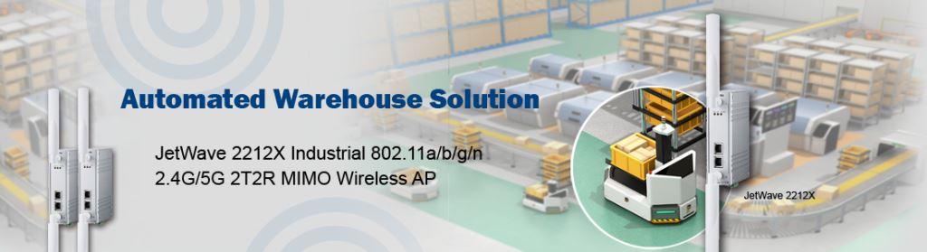 Korenix Automated Warehouse Solution JetWave 2212X