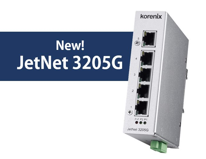 Korenix PoE function with Industrial Gigabit Ethernet Media Converter
